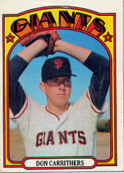 1972 Topps Baseball Cards      076      Don Carrithers RC